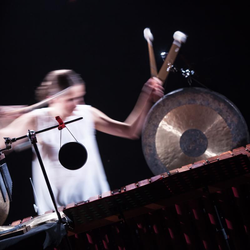Kaja Farsky with Marimba